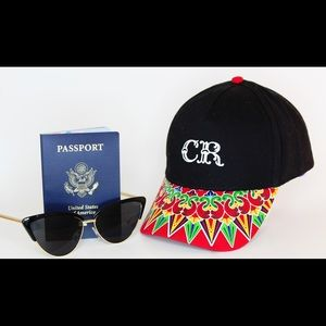 Accessories - Black Costa Rica Ball Cap with Multi-Color Bill